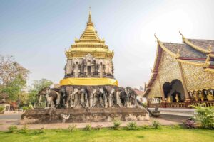 Wat Chiang Man, the oldest temple in Chiang Mai, Thailand.